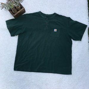 Men's Carhartt 2XL Green T-Shirt